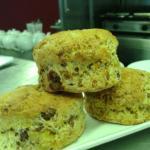 Home made chocolate Orange scones, lemon meringue pies & coconut sponge.