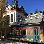 Hotel with real railroad car attached