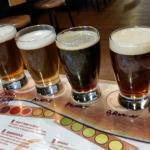 Beer sampler and food