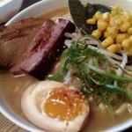 Got ramen to-go; this was the Shoyu w/ extra pork belly & corn on the side.