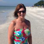 One happy beachcomber...