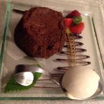 Moelleux chocolat (bien coulant )glace vanille