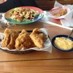 Fried Grouper Cheese grits