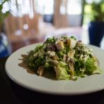 Caeser Salad Tambua Style with a soft runny poached egg and Tambua Dressing..
