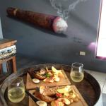 seafood lunch special chilli bugs, garlic prawns, calamari and wine $30