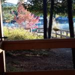 Looking toward the sand beach from the porch of Cabin 20