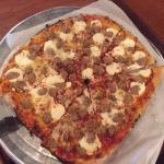 Sporkie Pizza with Extra Sausage and Ricotta