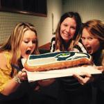 Seahawks Maple Bar Cake