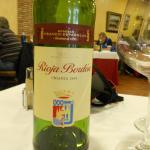 el mas económico de la carta de vinos (16,5€)