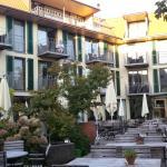 Der Biergarten vom Restaurant - Hotel Hirschen