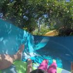 """Giant slides"" at water park"