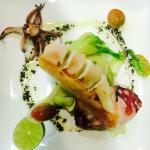 Calamar con pakchoi