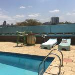 relax by our pool deck