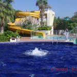 Whirlpool und Wasserrutsche