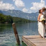 Picture from our wedding day - Bohinj