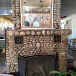 Inside had been beautifully redone...Beautiful stone fireplace in the waiting room