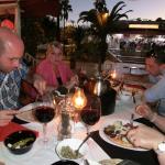 Beim Essen auf der Terasse vom Vaca Loca