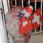 Schweizerfähnchen und Waggislarve