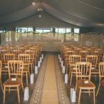 Pavilion ready for our ceremony