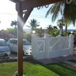 vue des voitures de la veranda