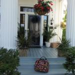 Entrance to Inn at Cape Cod with my Vera Bradley Luggage