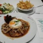 französische Zwiebelsuppe und Rübezahlschnitzel