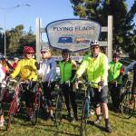 Channel Islands Bike Club ready to start their ride in the Santa Ynez Valley