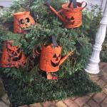 decoracao de halloween no jardim
