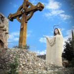 The Cross and the statue of Blessed Mother