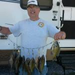 Great fishing in both our private lakes!