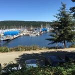 View from the parking lot at the Oyster Bay Cafe in the Ladysmith Maritime Marina, BC