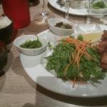 Menu tartare de saumon et Kaarage