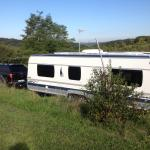 The car and our caravan
