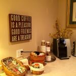 "One small corner of the continental breakfast room, ""The Brick"" not only makes good coffee...the"
