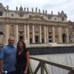 St Peters at the end of the Vatican tour with Marco