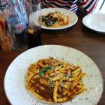 Pulled beef&venison pasta and risotto pesce