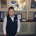 Lana, our friendly and characterful help at the reception