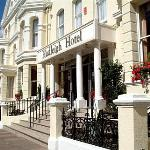 Front of Hadleigh Hotel Eastbourne