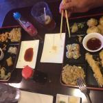Teriyaki Chicken and Shrimp Tempura bento boxes.
