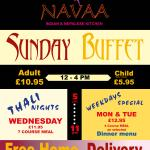 Sunday buffet available now..eat as much u can from 17+ item