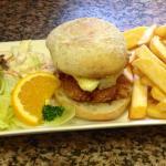 Chicken stack burger