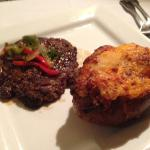 Hamburger steak and twice baked potato