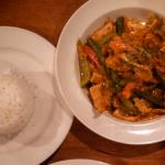 Panang Curry with jasmine white sticky rice
