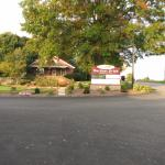 Front entrance sign to motel
