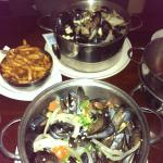 Moules St Denis and Moules Provencale and a side of frites