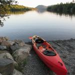 Kayaking Echo Lake Acadia