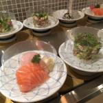 Great sushi train, great price (all plates $4, $8 for specials).