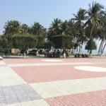 Promenaden direkte ved stranden