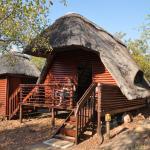 Lodge met uitzicht op waterplaats