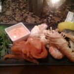 Seafood platter in the bar